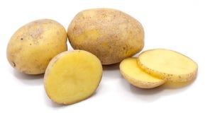 Pomme de terre sur le blanc photos libres de droits