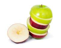 Pomme de tranche Image stock