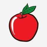Pomme dessinée à main levée de bande dessinée illustration de vecteur