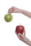Pomme deux Photos libres de droits