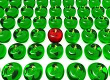 Pomme en cristal Images libres de droits