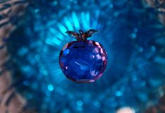Pomme en cristal photo libre de droits