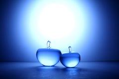 Pomme en cristal Image libre de droits