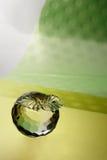 Pomme en verre Photo stock