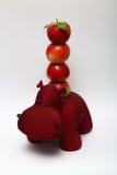 Pomme et hippopotame rouges Images stock