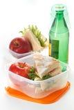 Pomme et lait de sandwich Image libre de droits