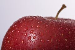 Pomme humide Photo libre de droits