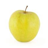 Pomme jaune d'isolement sur le blanc Photographie stock