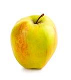 Pomme jaune rouge d'isolement sur le blanc Image stock