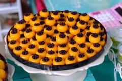 Pomme jaune thaïlandaise de dessert Saneh janv. ou d'or de Nonthaburi photographie stock
