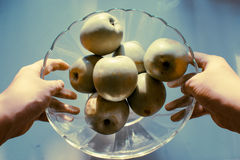 Pomme juteuse du plat Image libre de droits
