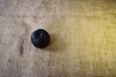 Pomme putréfiée noire Images libres de droits