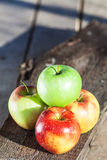 Pomme quatre bonne de wiew supérieur Photo libre de droits