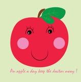 Pomme rouge illustration de vecteur