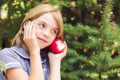 Pomme rouge avec la forme de coeur Photographie stock libre de droits