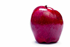 Pomme rouge contre le blanc Photo stock