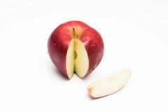 Pomme rouge d'isolement Image libre de droits
