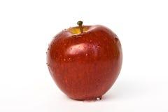 Pomme rouge d'isolement sur le blanc Image libre de droits