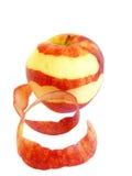 Pomme rouge d'isolement sur un blanc Image libre de droits