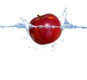 Pomme rouge dans l'eau Photographie stock libre de droits