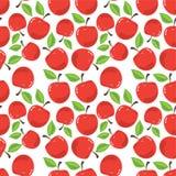Pomme rouge dans le blanc Photos stock