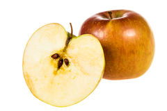 Pomme rouge demi Image stock