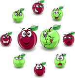 Pomme rouge et verte Photographie stock