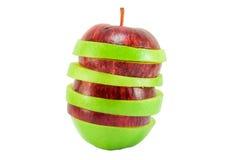 Pomme rouge et verte Photo libre de droits