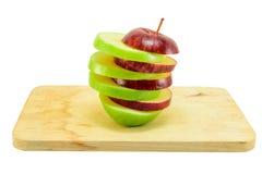 Pomme rouge et verte Images libres de droits