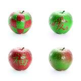 Pomme rouge et verte fraîche Image stock