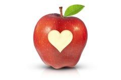 Pomme rouge juteuse pour la santé Images libres de droits