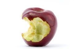 Pomme rouge mâchée Photographie stock