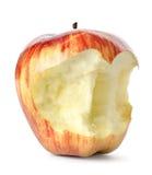 Pomme rouge mangée   photo stock