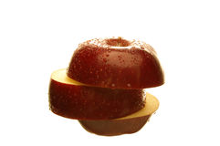 Pomme rouge simple Images stock
