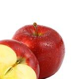 Pomme rouge sur le fond blanc Image libre de droits