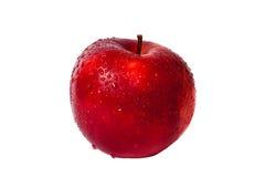 Pomme rouge sur le fond blanc Photos libres de droits