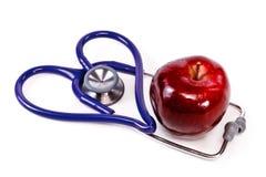 Pomme saine de coeur Image libre de droits