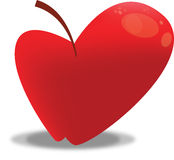 Pomme stylisée rouge Photos stock