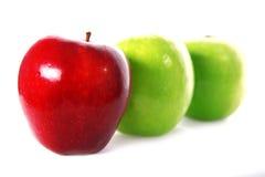 pomme trois frais Images libres de droits