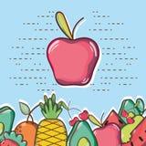 Pomme tropicale Delicious et fraîche Image libre de droits