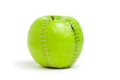Pomme verte agrafée Image libre de droits