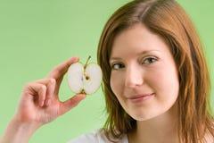 Pomme verte avec l'applecore images stock