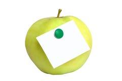 Pomme verte avec le blanc Photo libre de droits