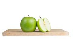 Pomme verte coupée en tranches photo libre de droits