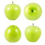Pomme verte d'isolement Images stock