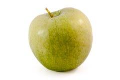 Pomme verte d'isolement sur le fond blanc Photos stock