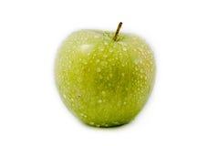 Pomme verte d'isolement sur le fond blanc Image libre de droits
