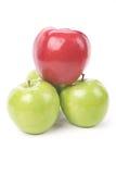 Pomme verte de rouge d'Apple Photo stock