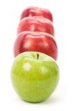 Pomme verte de rouge d'Apple Photographie stock libre de droits