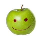 Pomme verte de sourire Images libres de droits